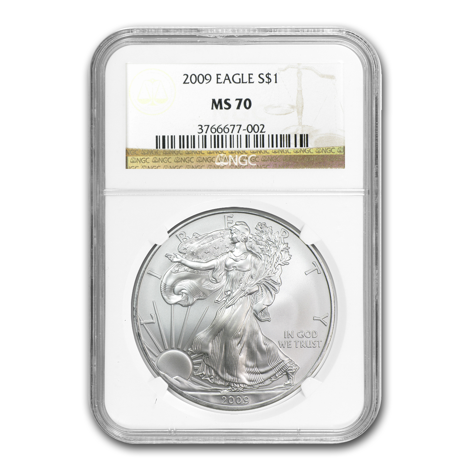 2007-2012 6-Coin Silver American Eagle Set MS-70 NGC