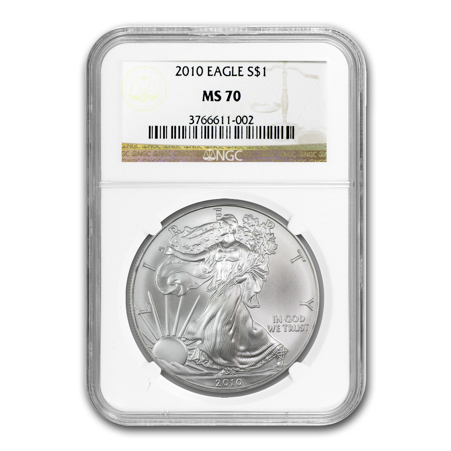 2007-2012 Silver American Eagle Date Set - MS-70 NGC