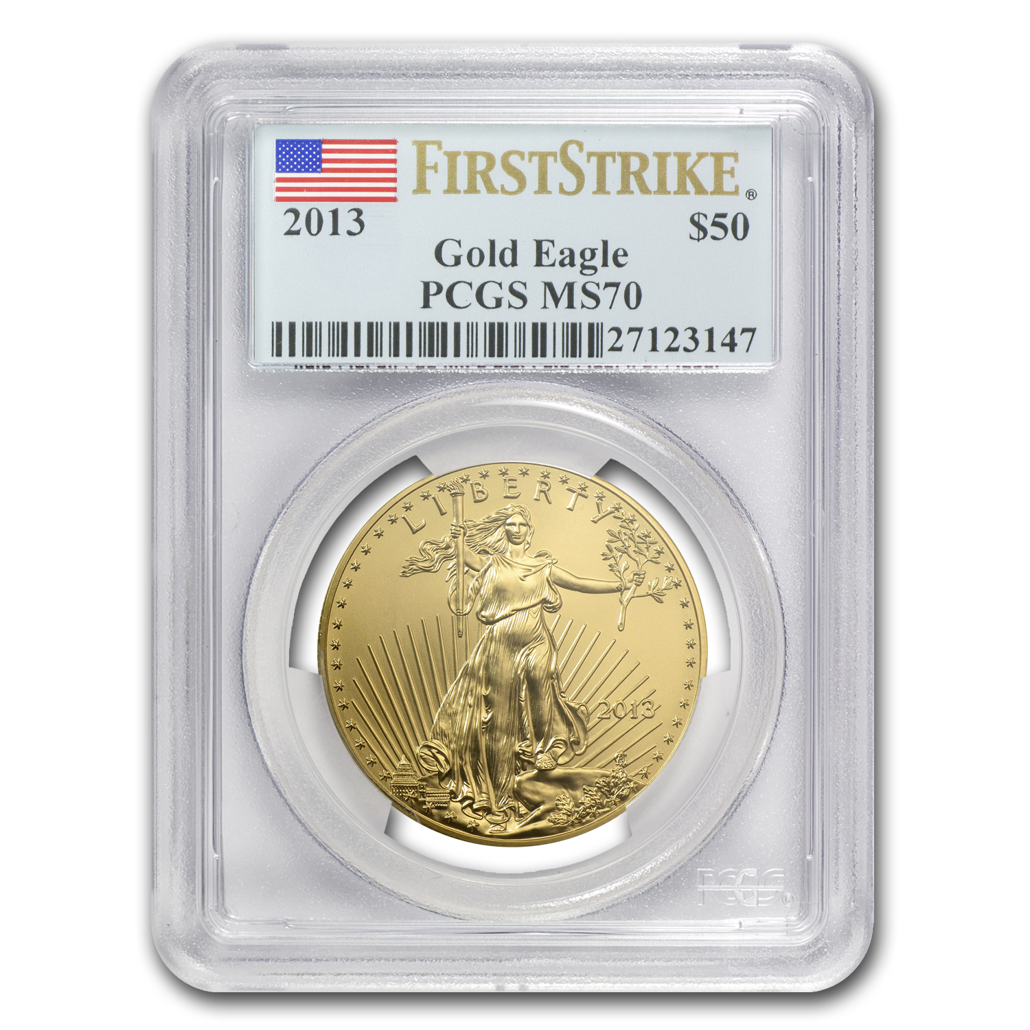 2013 1 oz Gold & Silver Eagle Set MS-70 PCGS (FS)