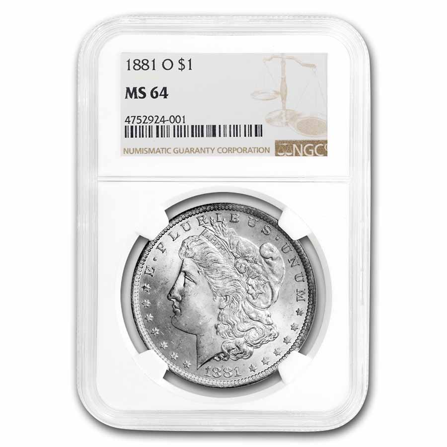 1881-O Morgan Dollar MS-64 NGC