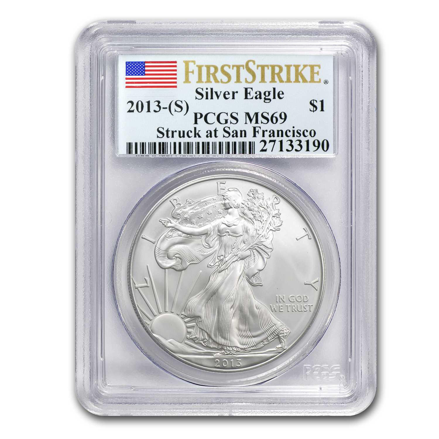 2013 Silver Eagles - MS-69 PCGS - First Strike - 3 Coin Set
