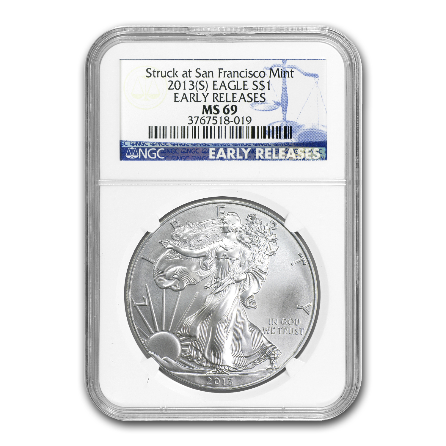 2013 Silver Eagles - MS-69 NGC - Early Releases 3 Coin Set