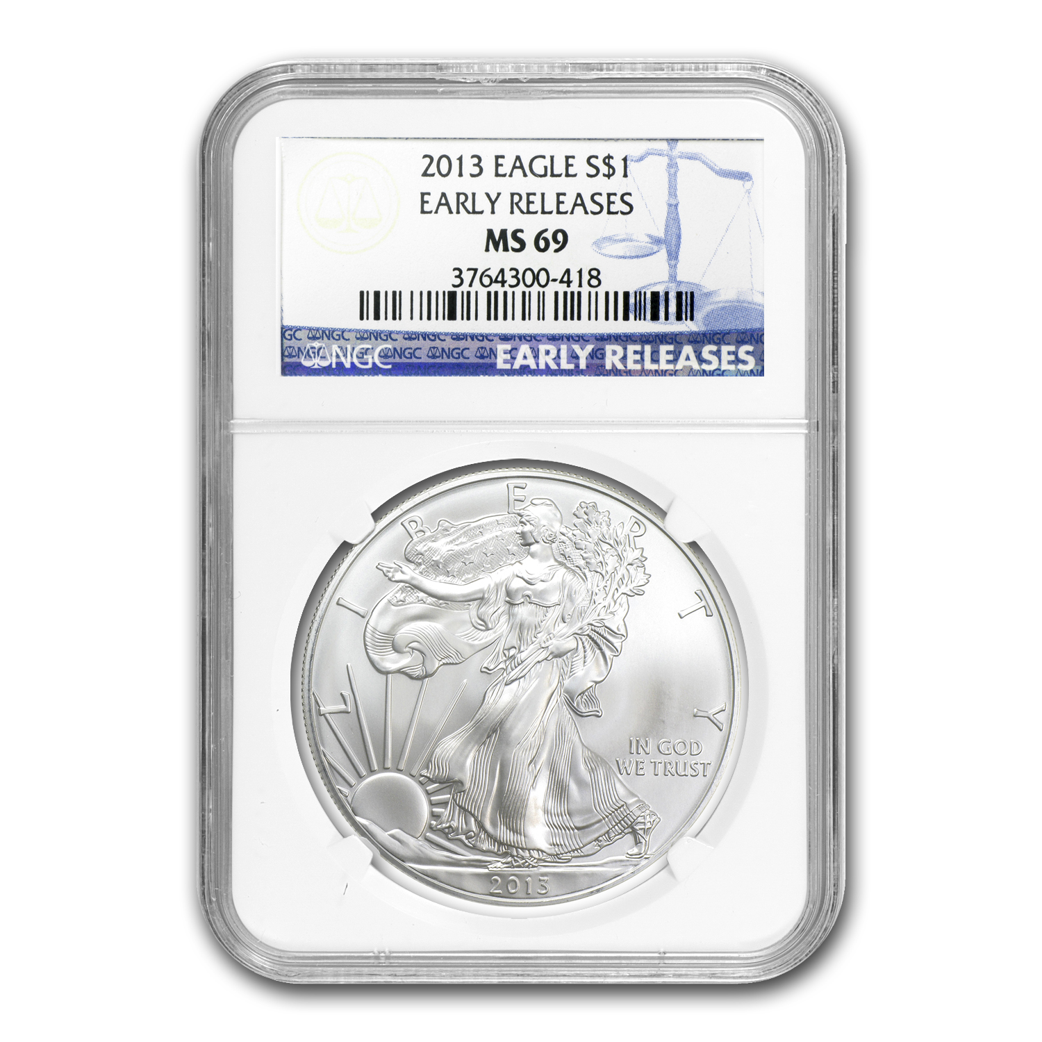 2013 3-Coin Set Silver American Eagles MS-69 NGC (Early Releases)