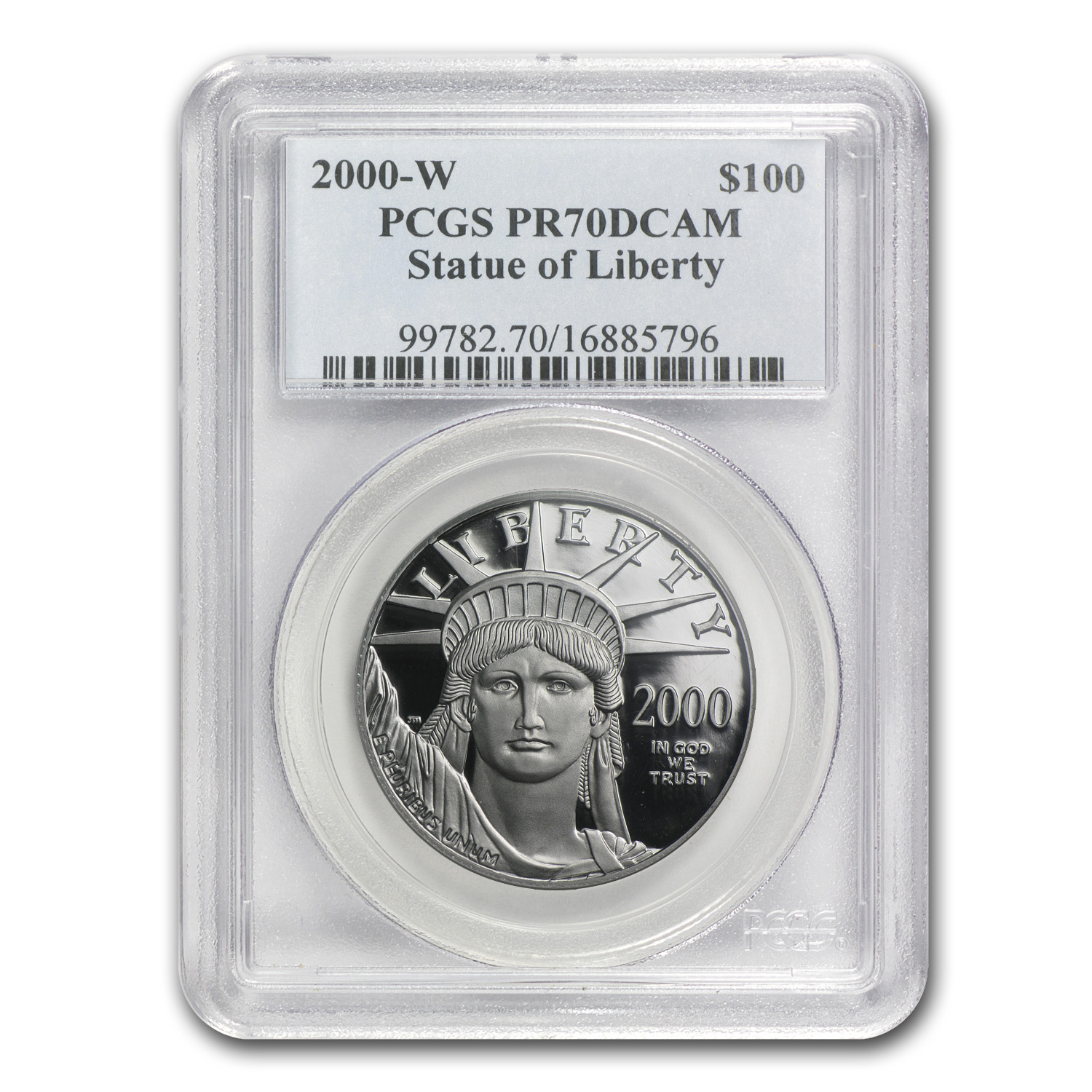 2000-W 4-Coin Proof Platinum American Eagle Set PR-70 PCGS