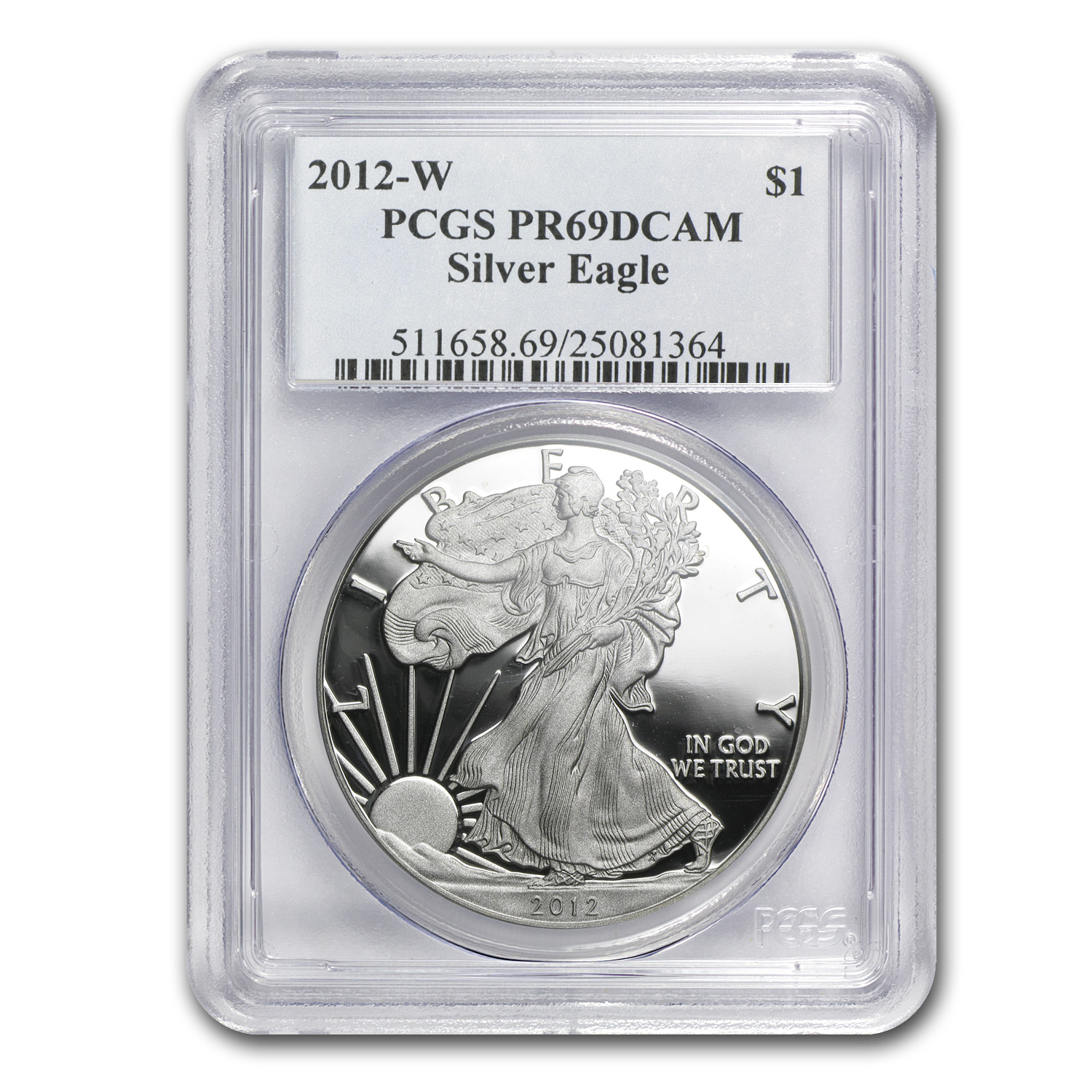 2012-W Proof Silver American Eagle PR-69 PCGS