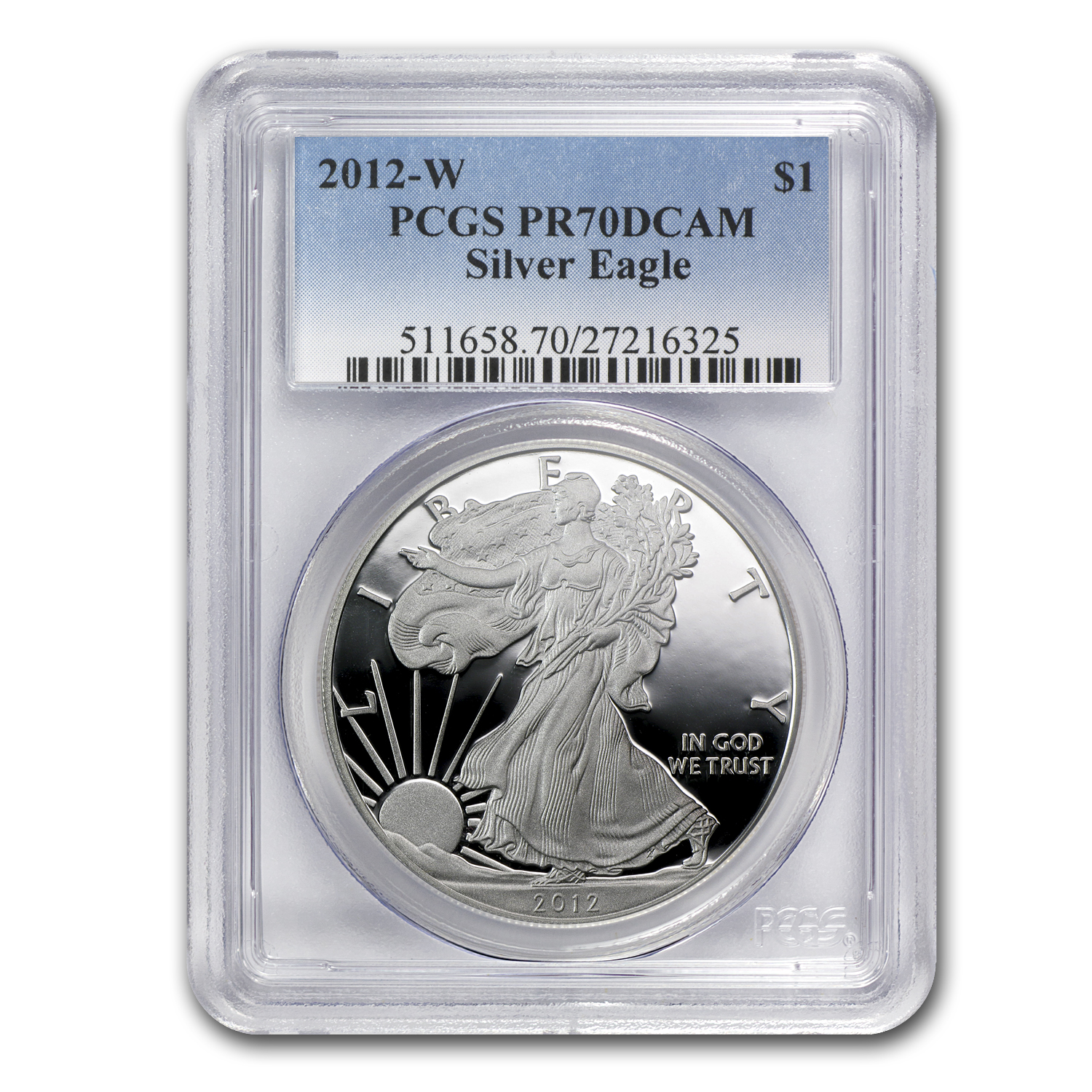 2012-W Proof Silver American Eagle PR-70 PCGS
