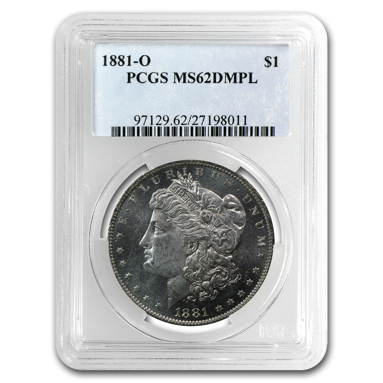 1881-O Morgan Dollar - MS-62 DMPL Deep Mirror Proof Like PCGS
