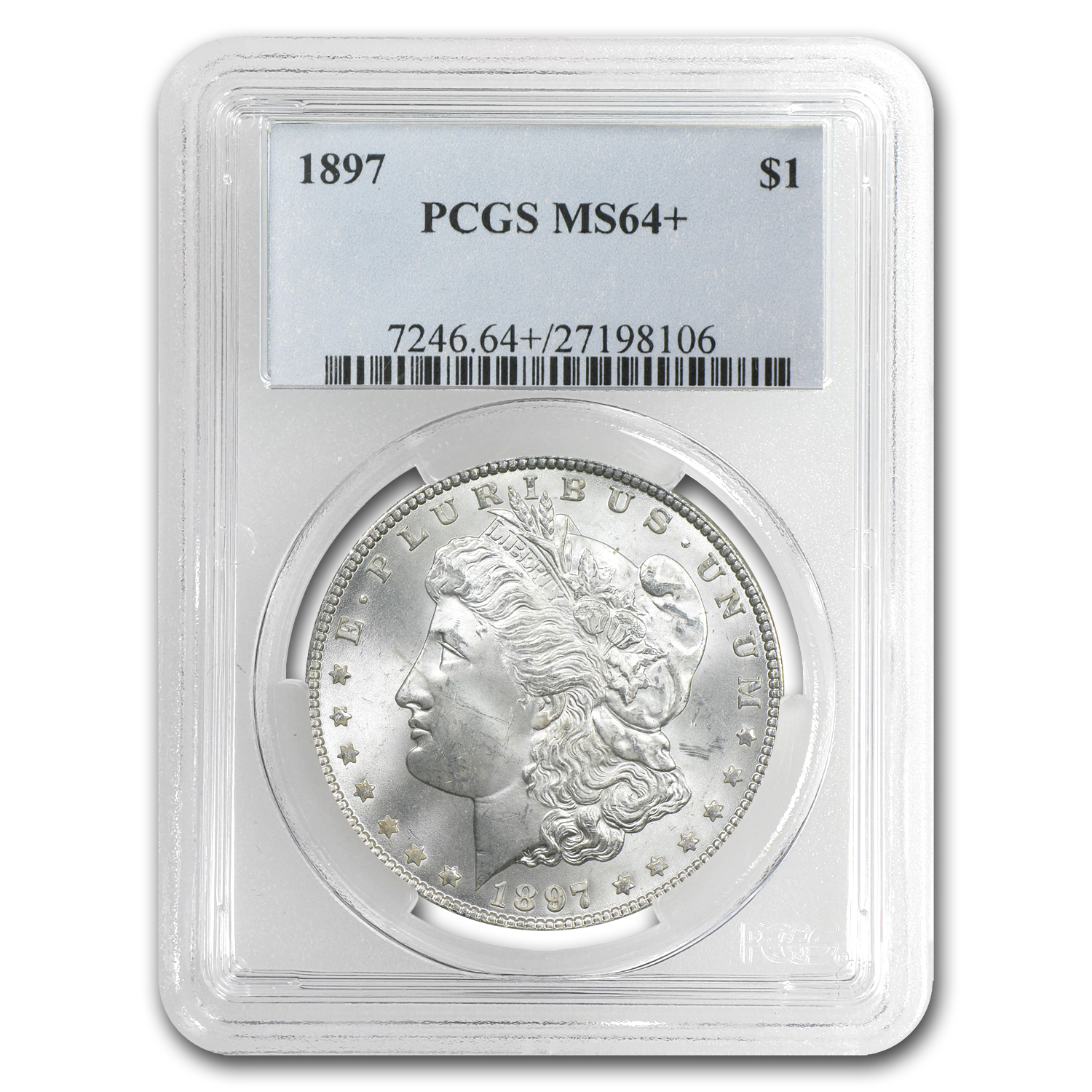 1897 Morgan Dollar MS-64+ Plus PCGS