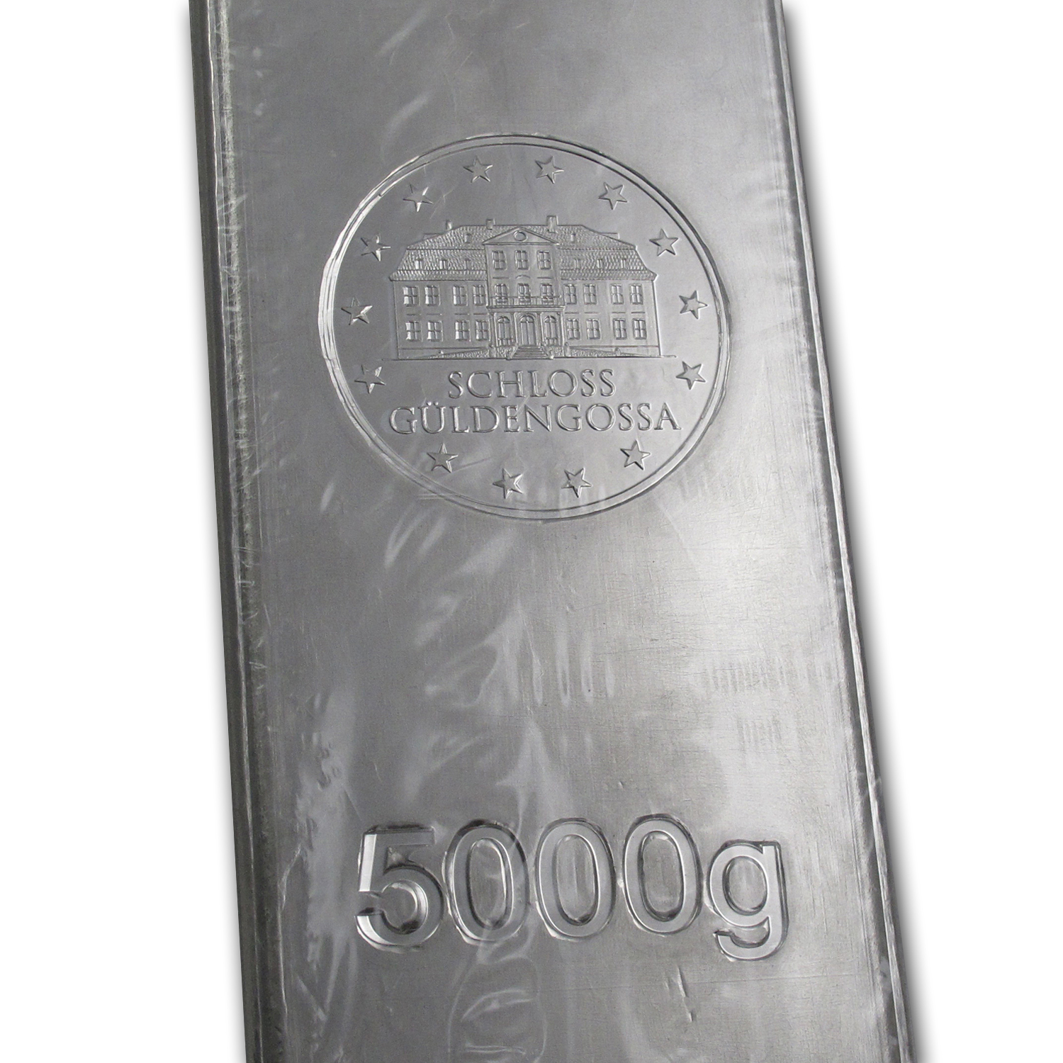 5000 gram Silver Bar - Geiger (Security Line Series)
