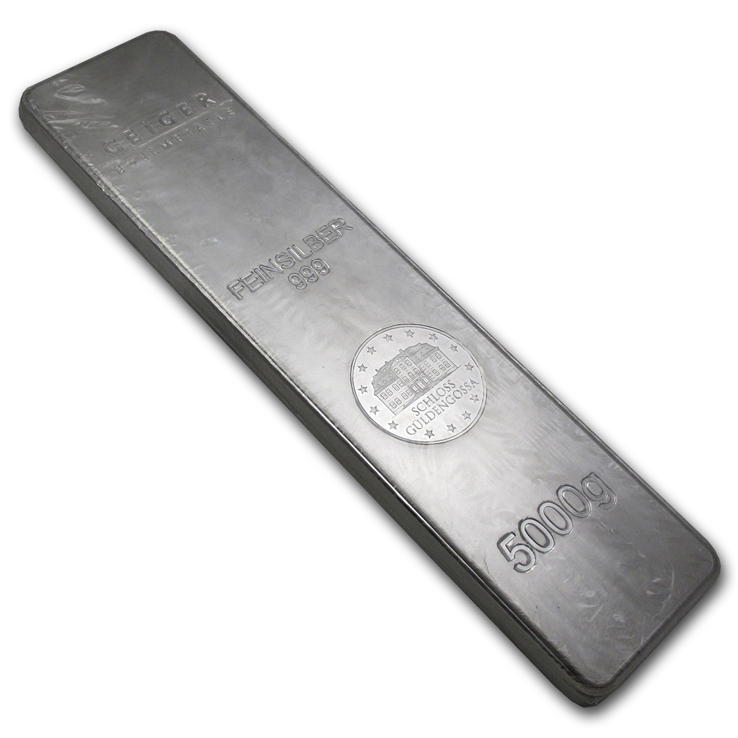 5000 gram Silver Bar - Geiger (Security Line Series/Scruffy)