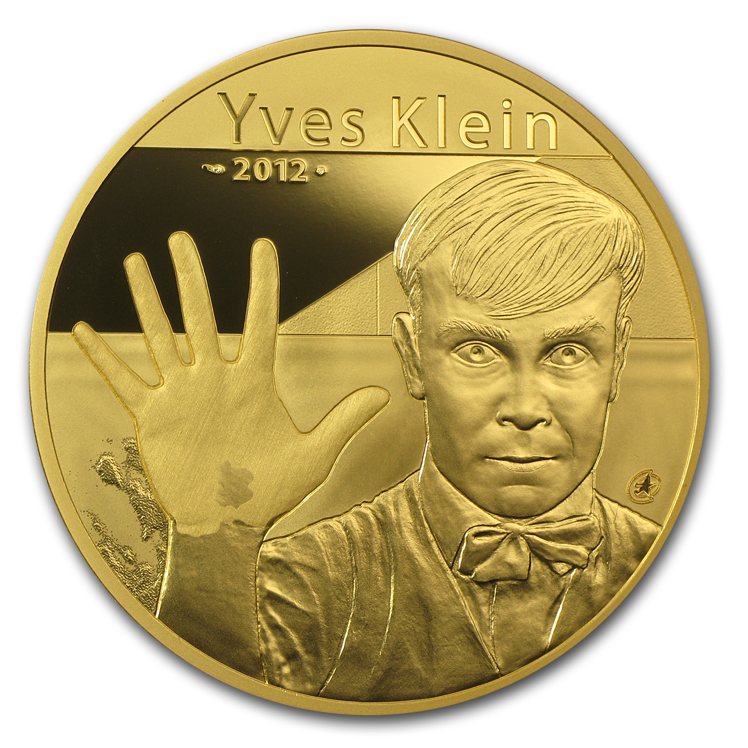 2012 France 5 oz Proof Gold European Program Yves Klein