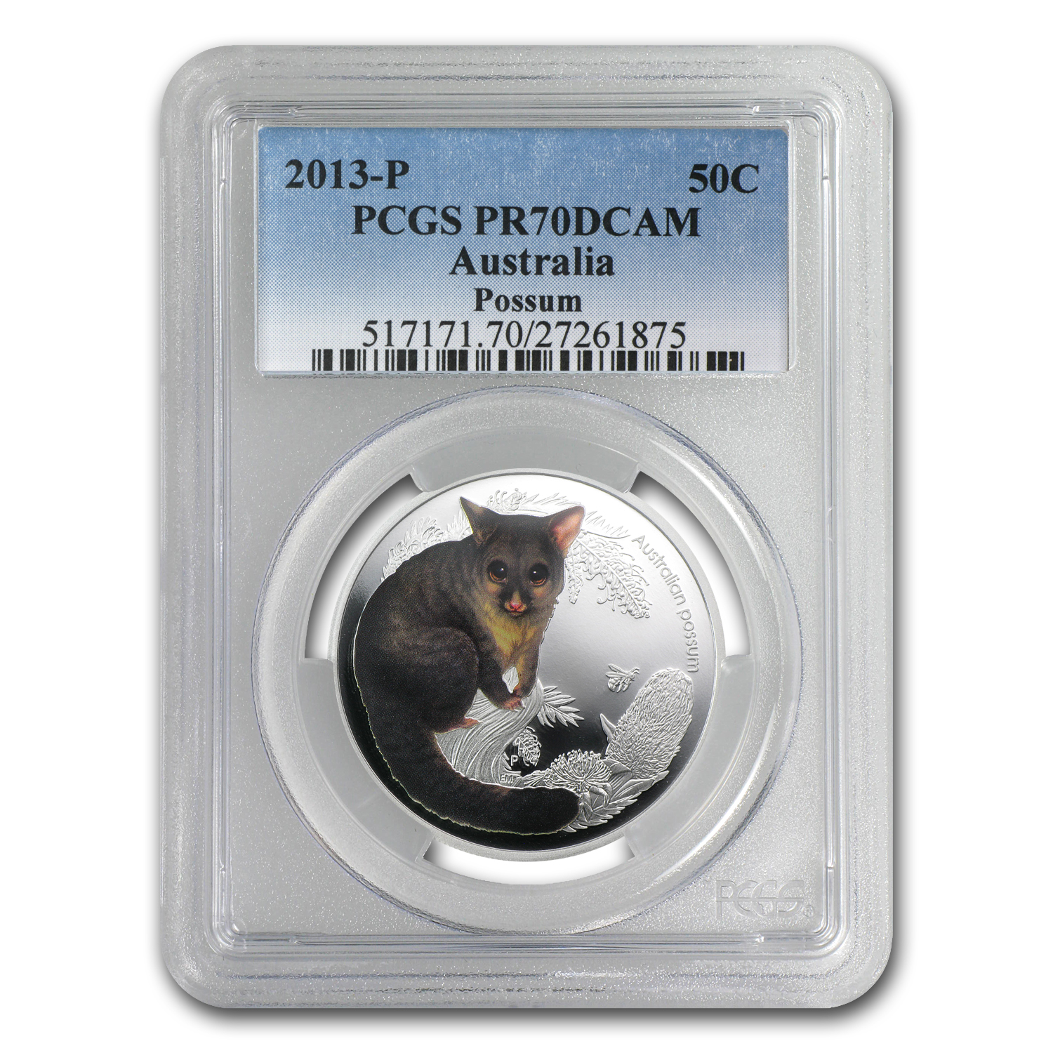 2012 1/2 oz Proof Silver Bush Babies II - Possum PCGS PR-70