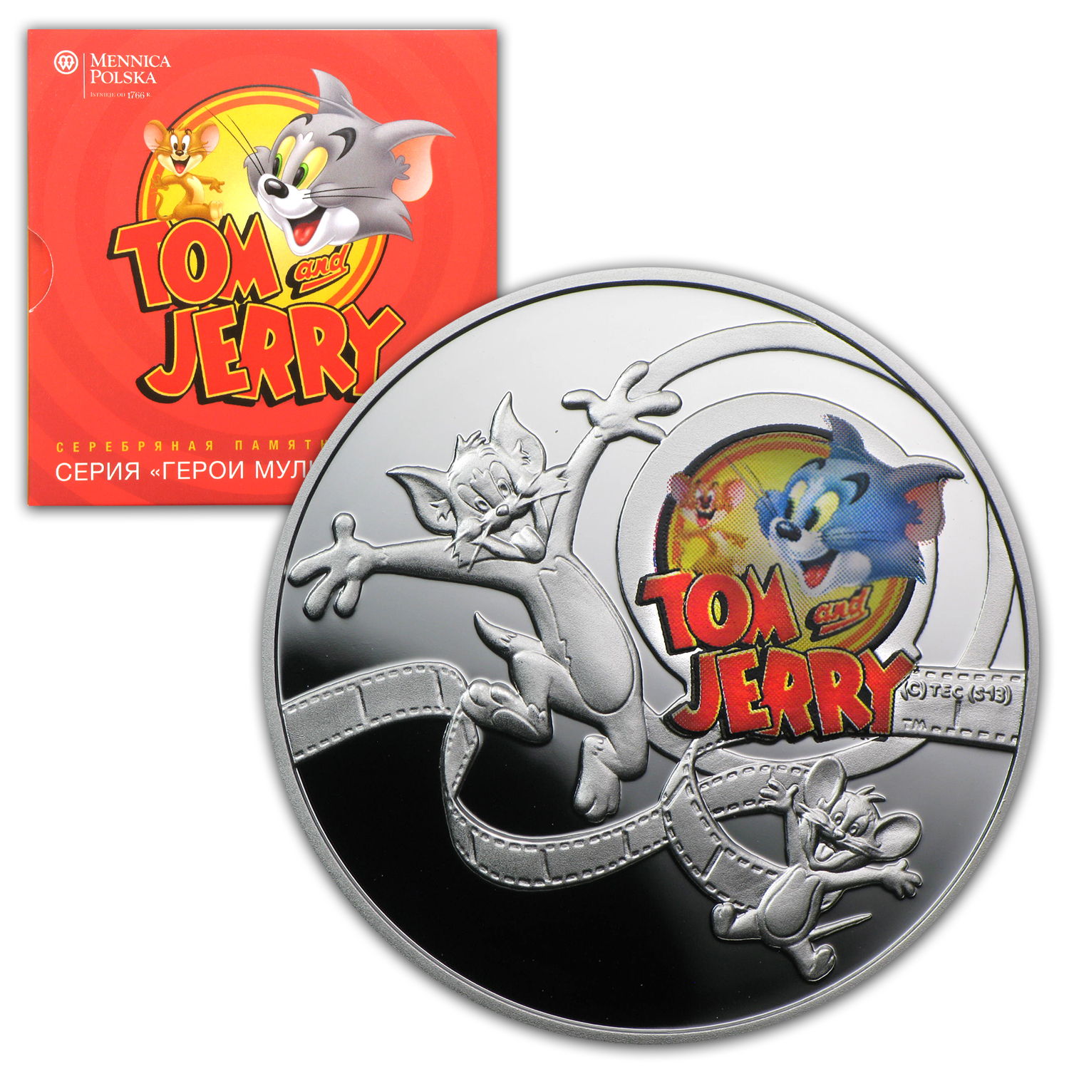 2013 Niue Proof Silver $1 Cartoon Characters Tom & Jerry