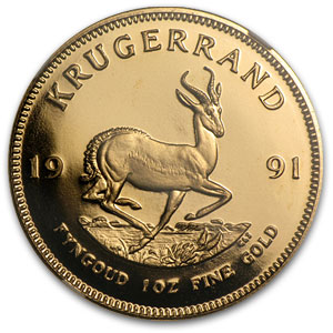 1991 1 oz Gold South African Krugerrand PF-67 NGC