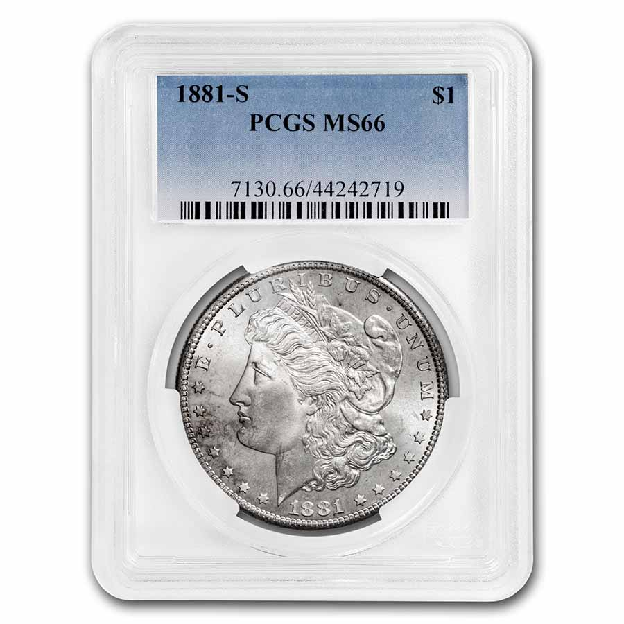 1881-S Morgan Dollar - MS-66 PCGS
