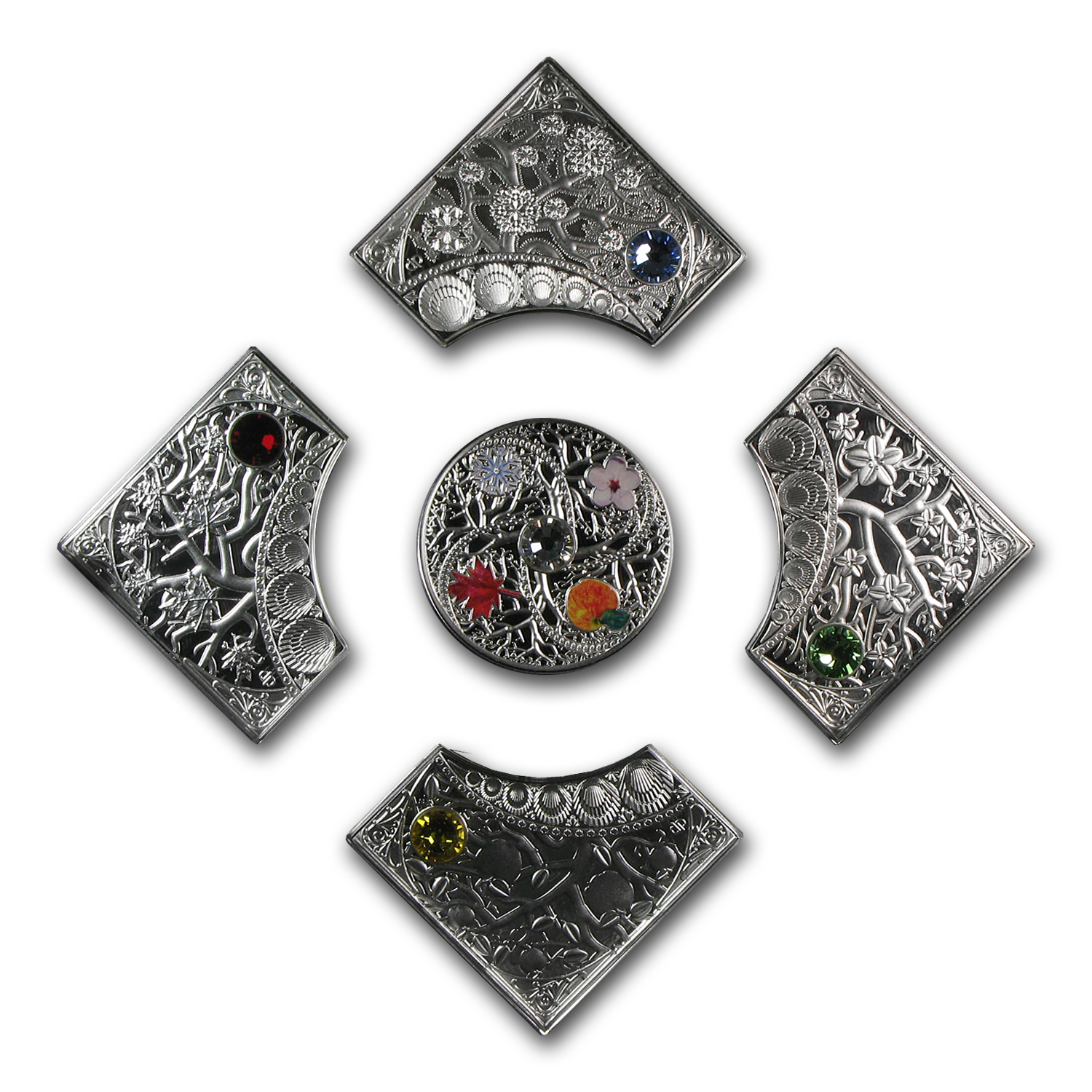 Niue 2013 Proof Silver 5 X $2 The Four Seasons - 5 Coin Set