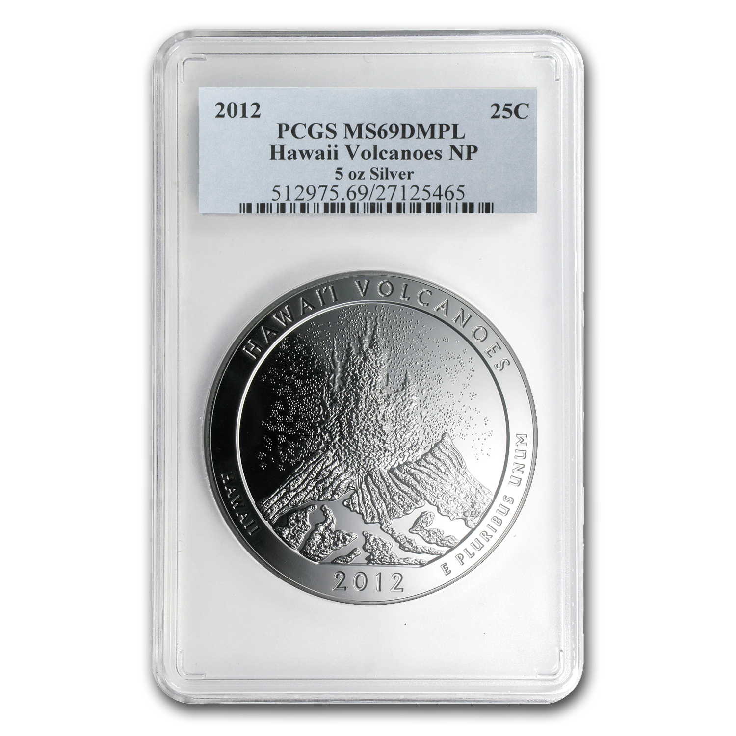 2012 5 oz Silver ATB Hawaii MS-69 DMPL PCGS