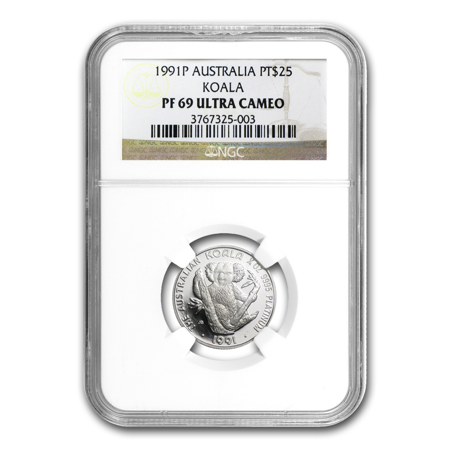 1991 Australia 1/4 oz Proof Platinum Koala PF-69 NGC