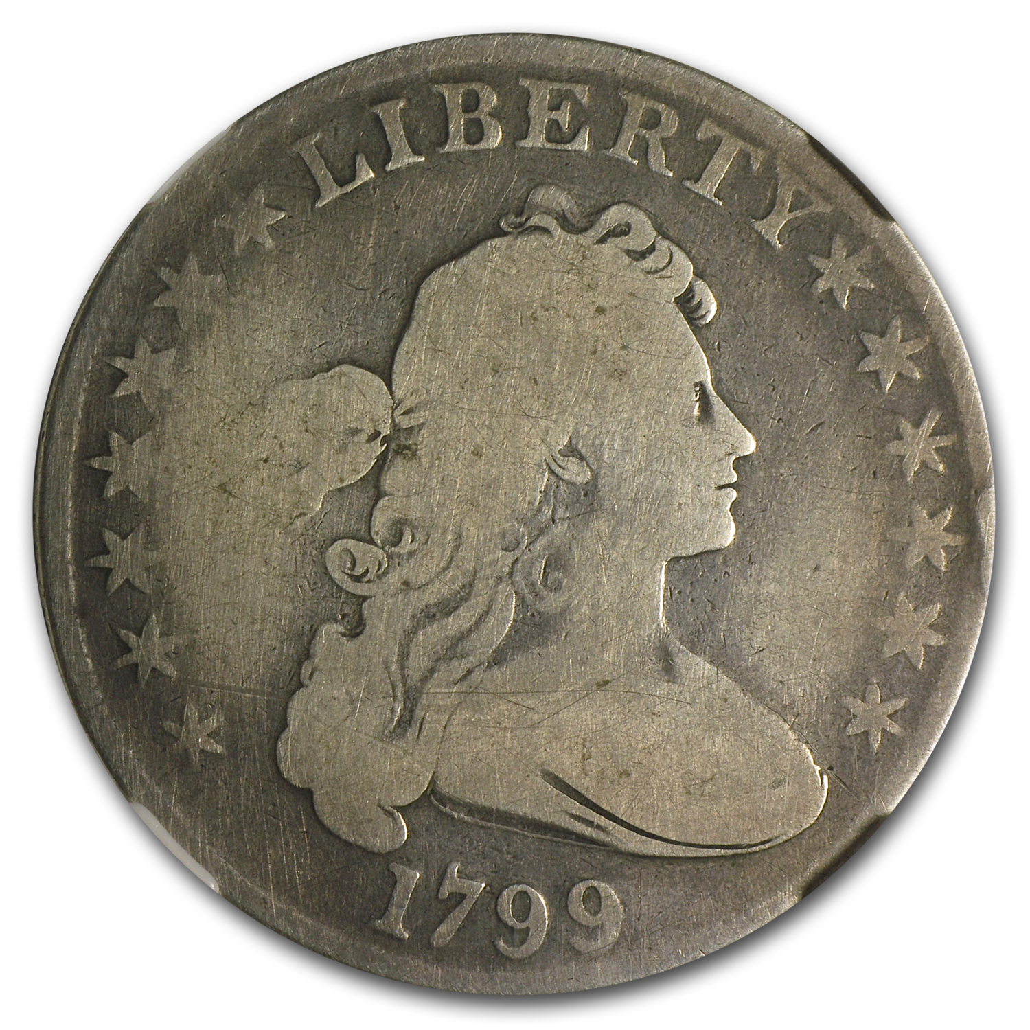 1799 Draped Bust Dollar Good-6 NGC