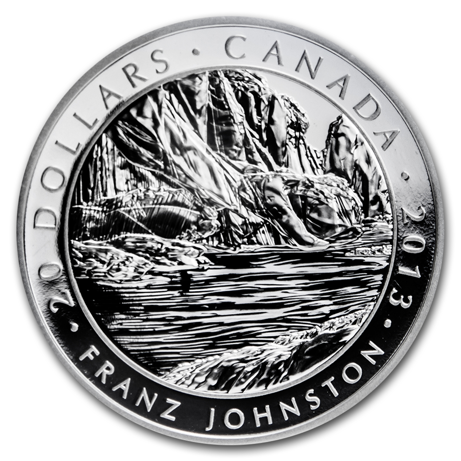 2013 Canada 1 oz Silver $20 Johnston's Guardian of the Gorge