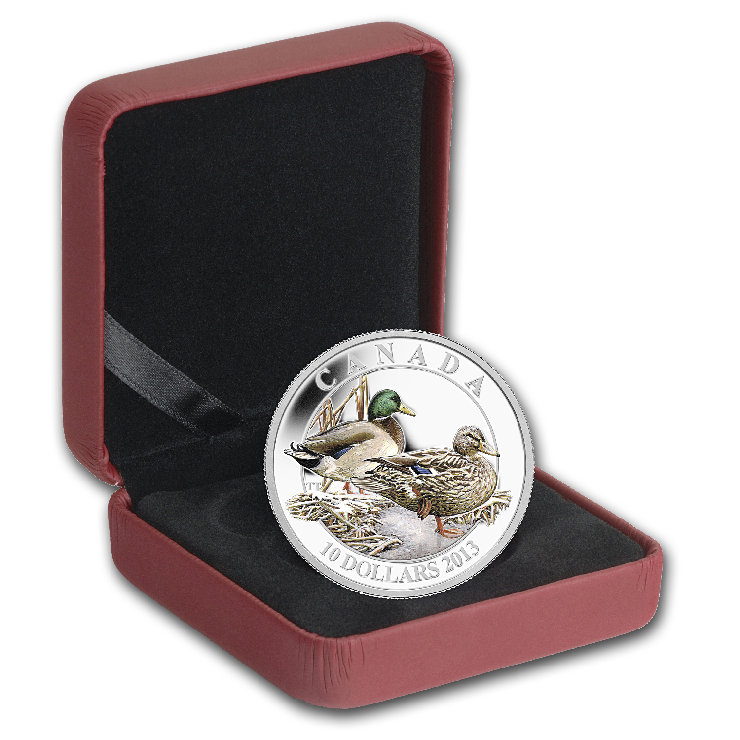 2013 1/2 oz Silver Canadian $10 Ducks of Canada – Mallard