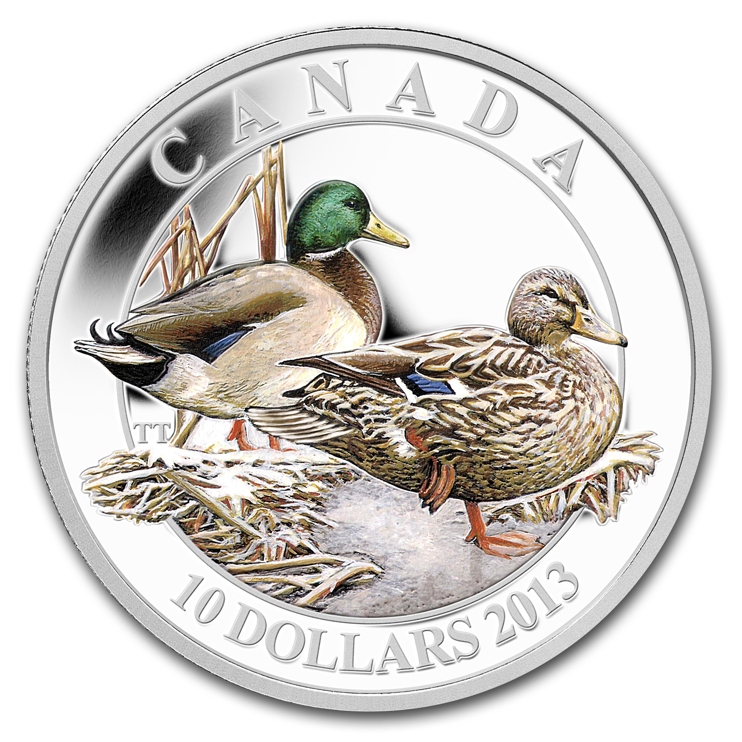 2013 1/2 oz Silver Canadian $10 Ducks of Canada (Mallard)