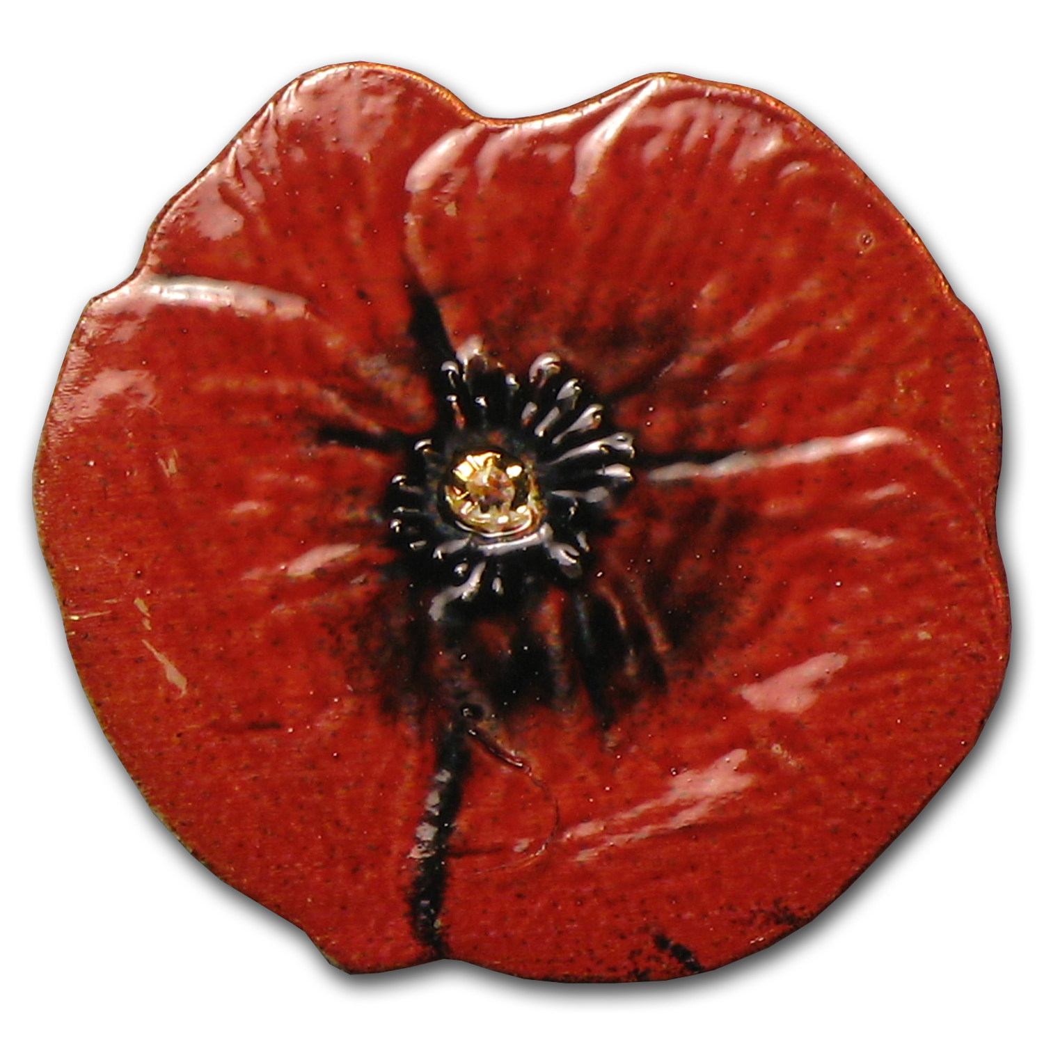 Palau 1/2 gram Gold $1 Remembrance Red Poppy