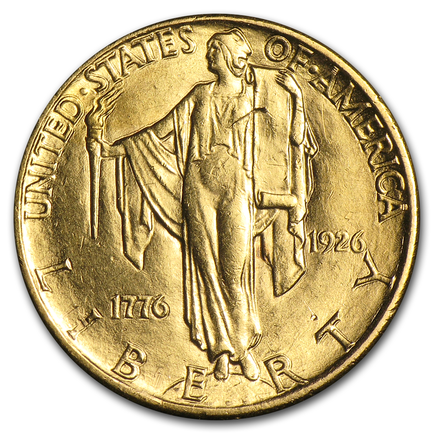 1926 $2.50 Gold America Sesquicentennial - Almost Uncirculated
