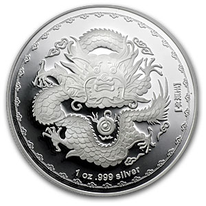 2012 Australia Silver 1 oz Year of the Dragon PR-70 PCGS