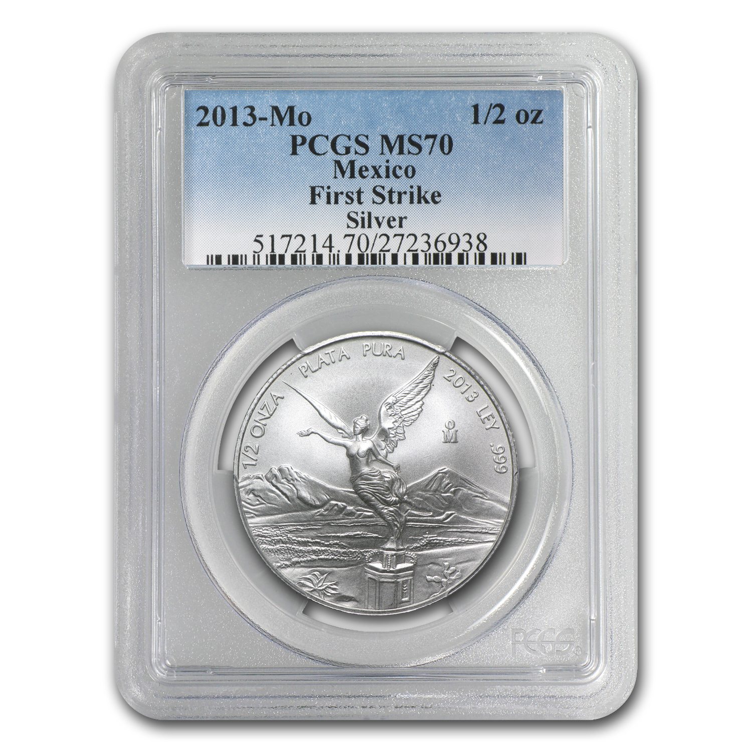 2013 1/2 oz Silver Libertad MS-70 PCGS (FS) - Registry Set