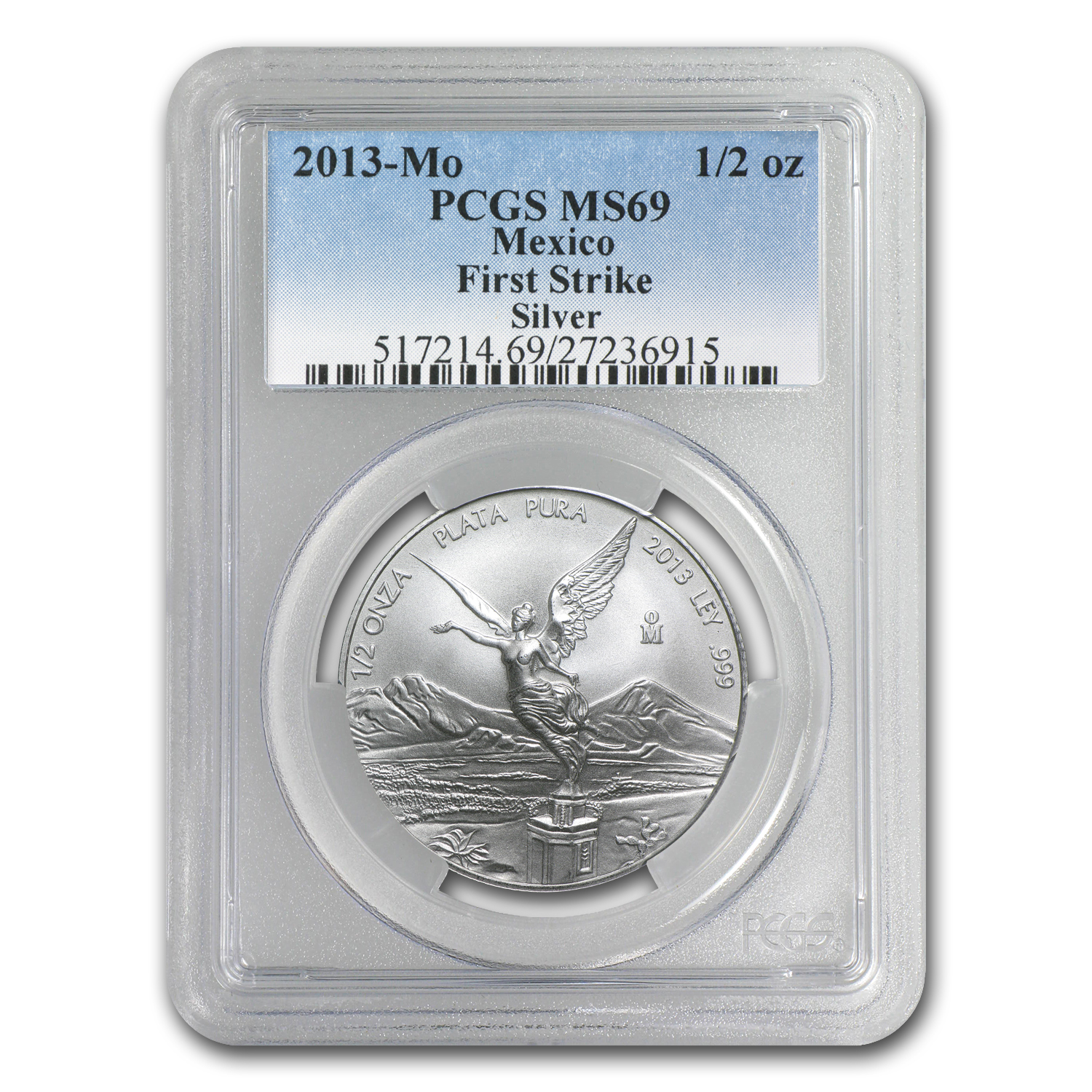 2013 1/2 oz Silver Libertad MS-69 PCGS - First Strike