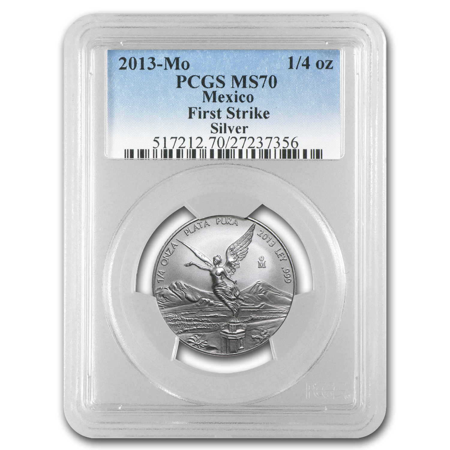 2013 1/4 oz Silver Libertad MS-70 PCGS (FS) - Registry Set