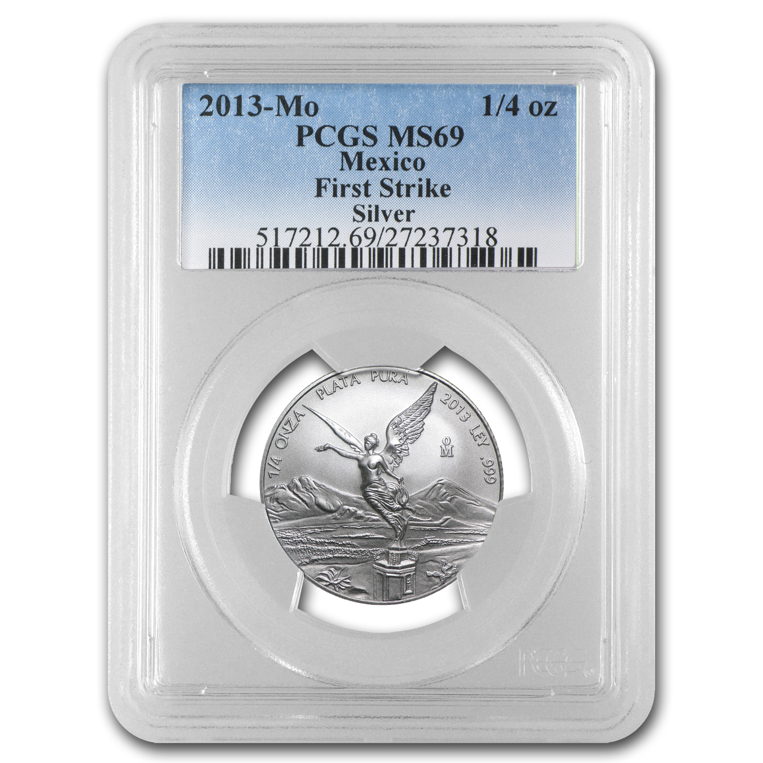 2013 1/4 oz Silver Libertad MS-69 PCGS (FS) - Registry Set