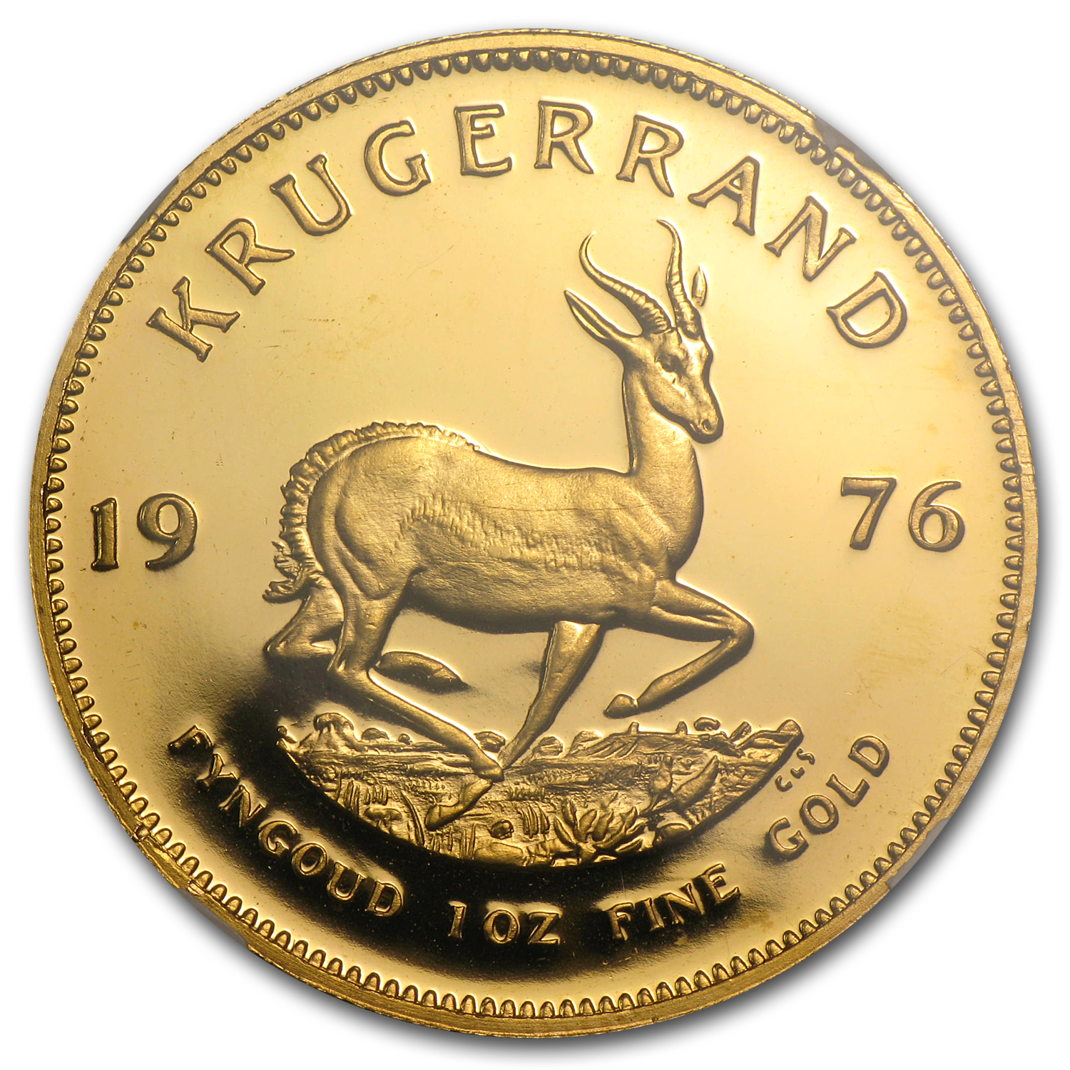 1976 1 oz Gold South African Krugerrand PF-65 NGC