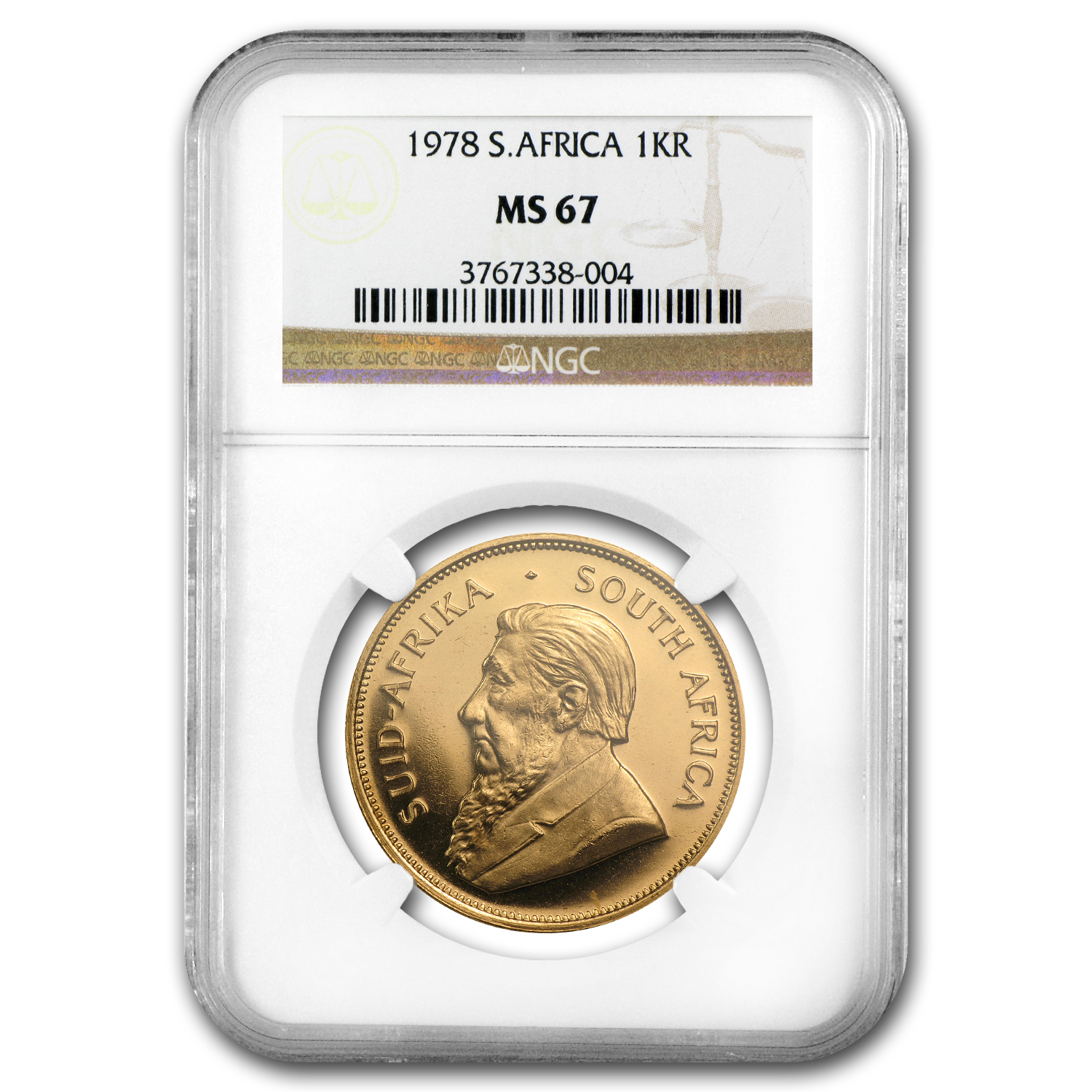 1978 South Africa 1 oz Gold Krugerrand MS-67 NGC