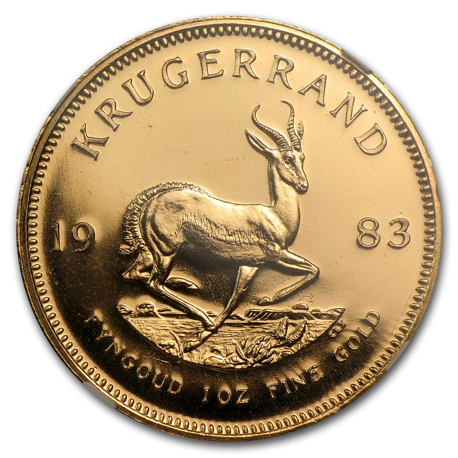 1983 1 oz Gold South African Krugerrand MS-67 NGC