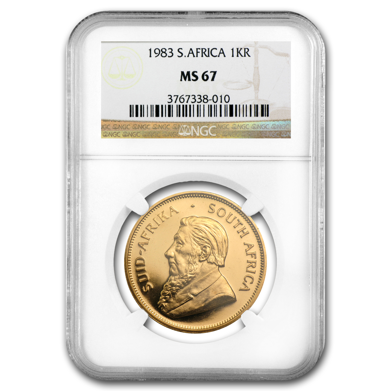 1983 South Africa 1 oz Gold Krugerrand MS-67 NGC