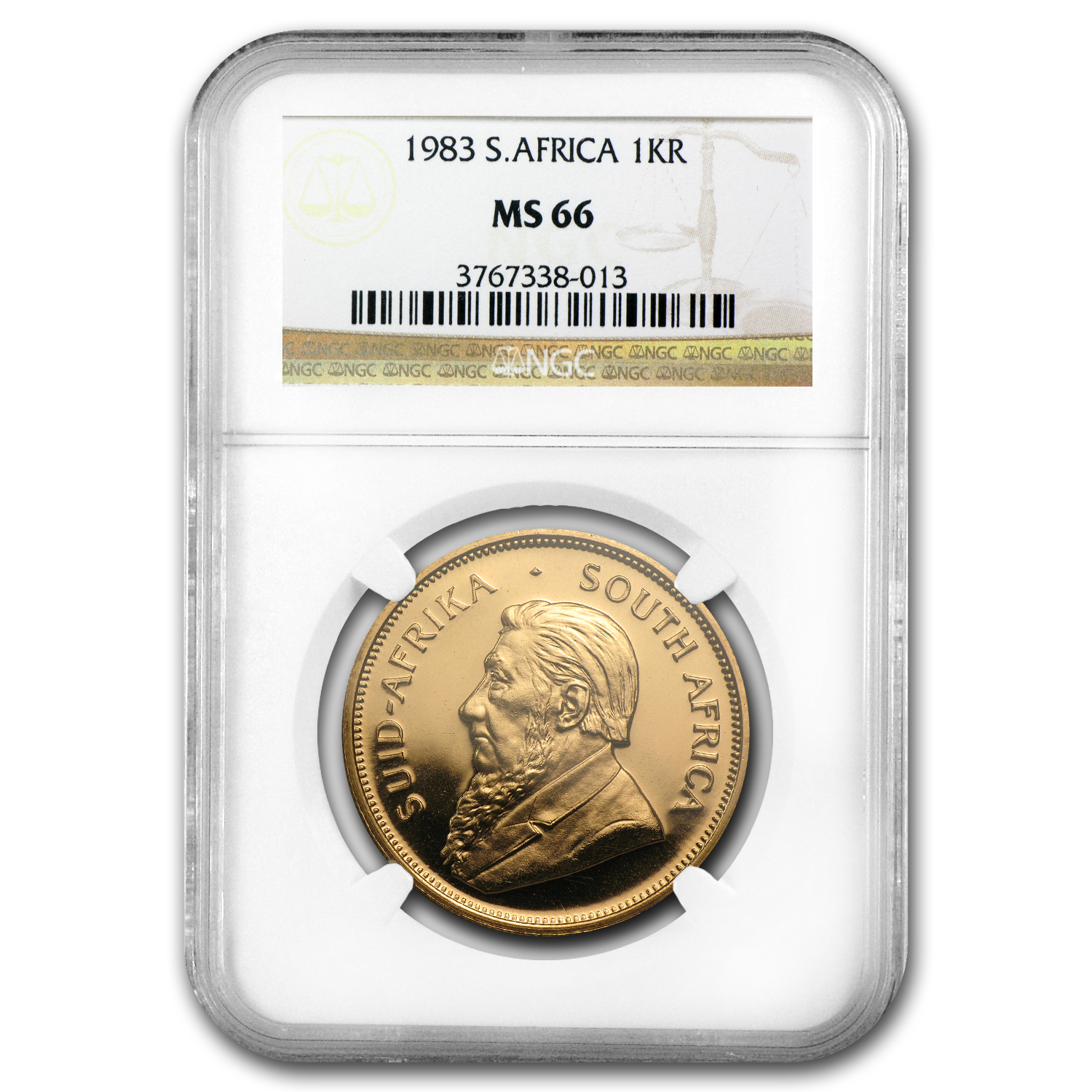 1983 1 oz Gold South African Krugerrand MS-66 NGC