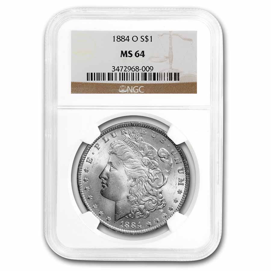 1884-O Morgan Dollar MS-64 NGC