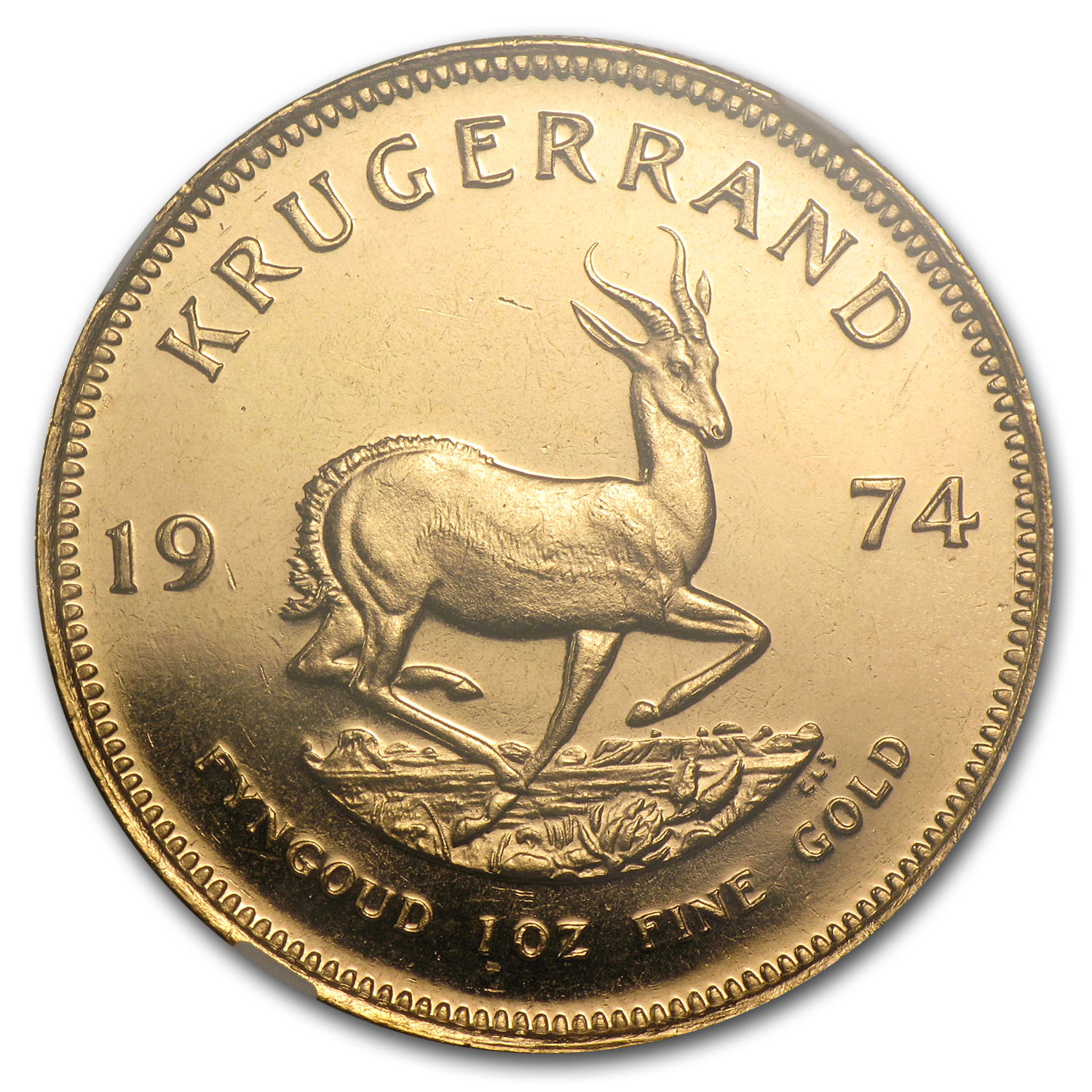 1974 South Africa 1 oz Gold Krugerrand MS-67 NGC