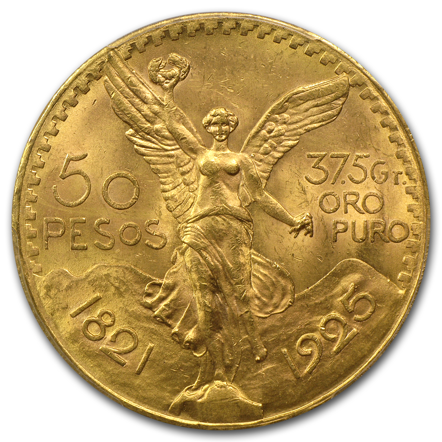 1925 Mexico Gold 50 Pesos MS-64 PCGS