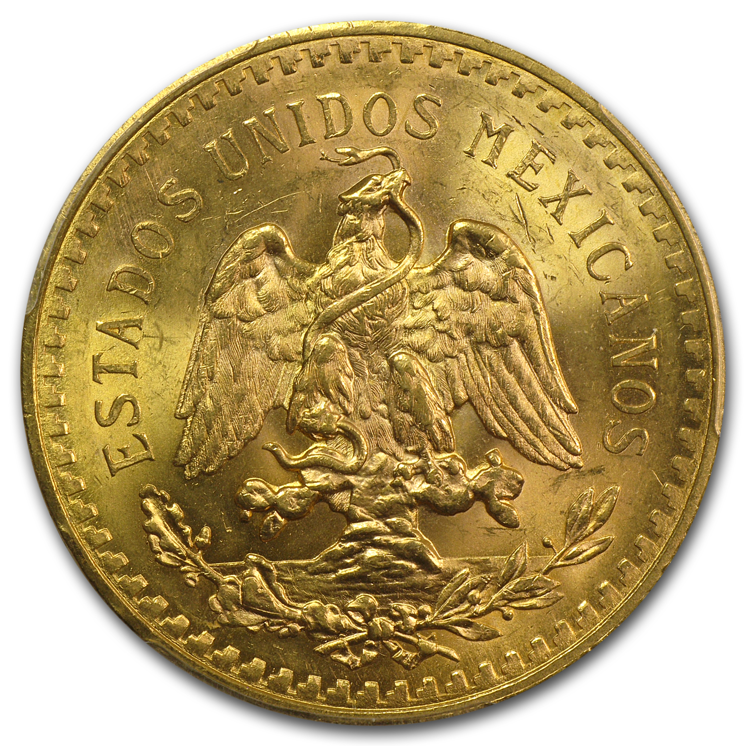 Mexico 1929 50 Pesos Gold Coin - MS-64 PCGS