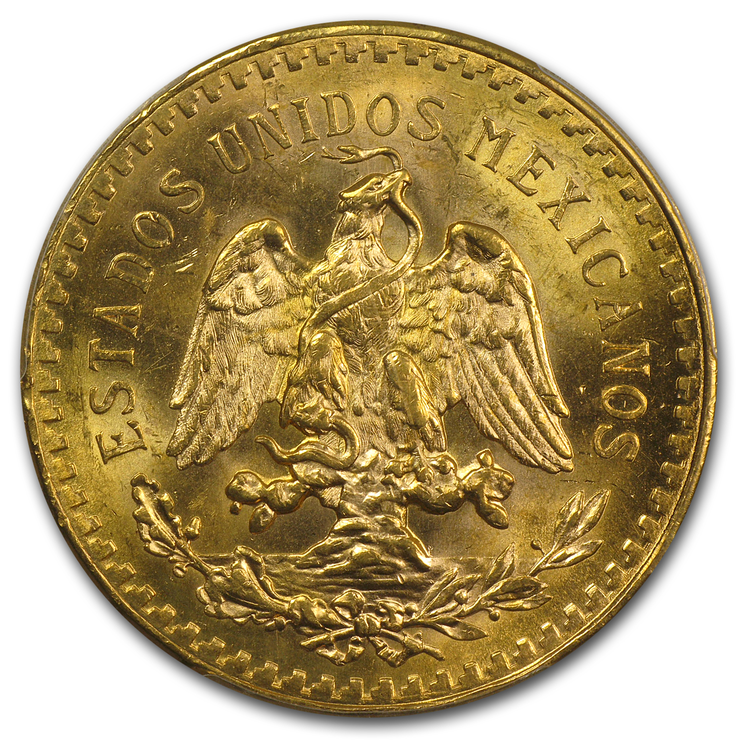Mexico 1946 50 Pesos Gold MS-64 PCGS (Secure Plus)