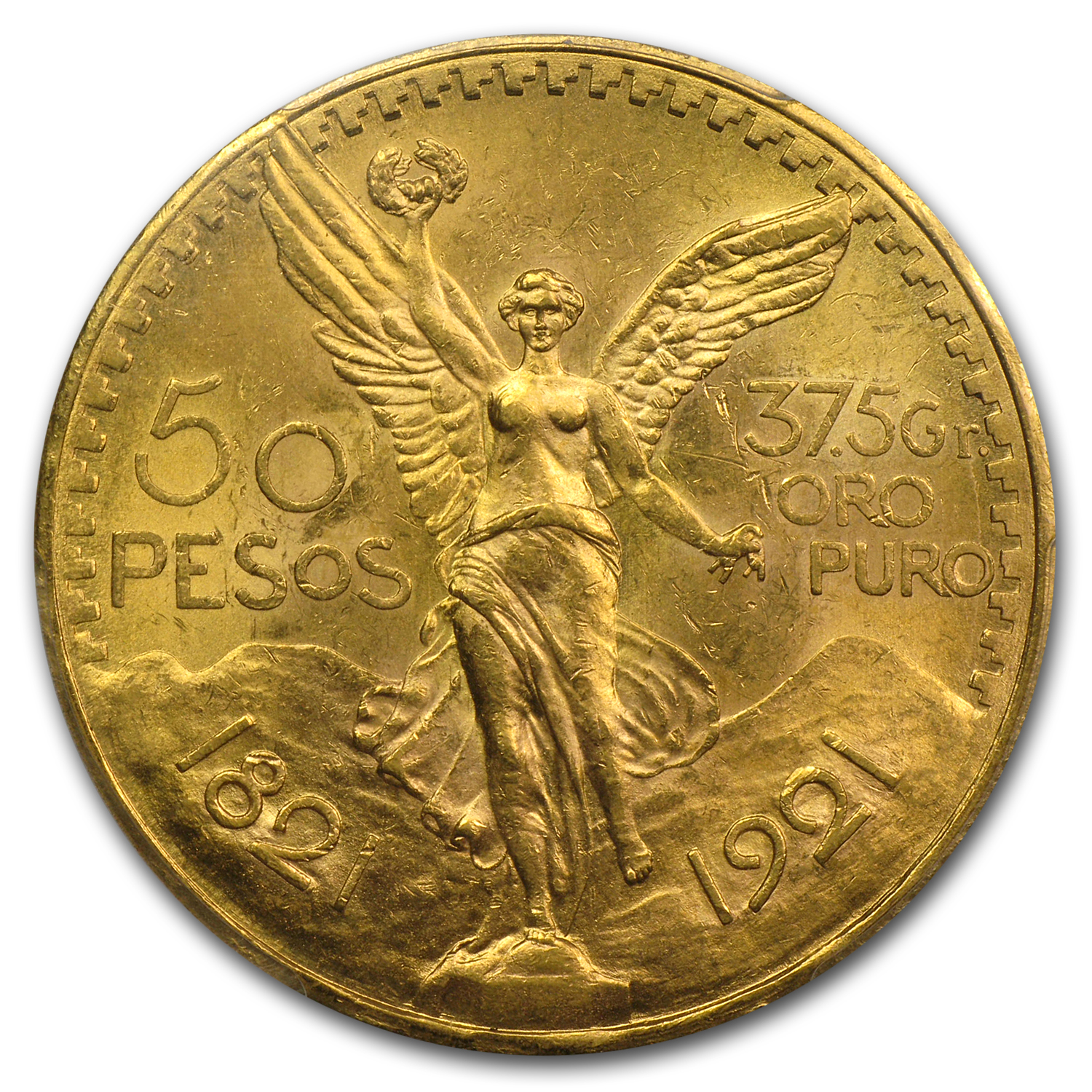 Mexico 1921 50 Pesos Gold MS-64 PCGS