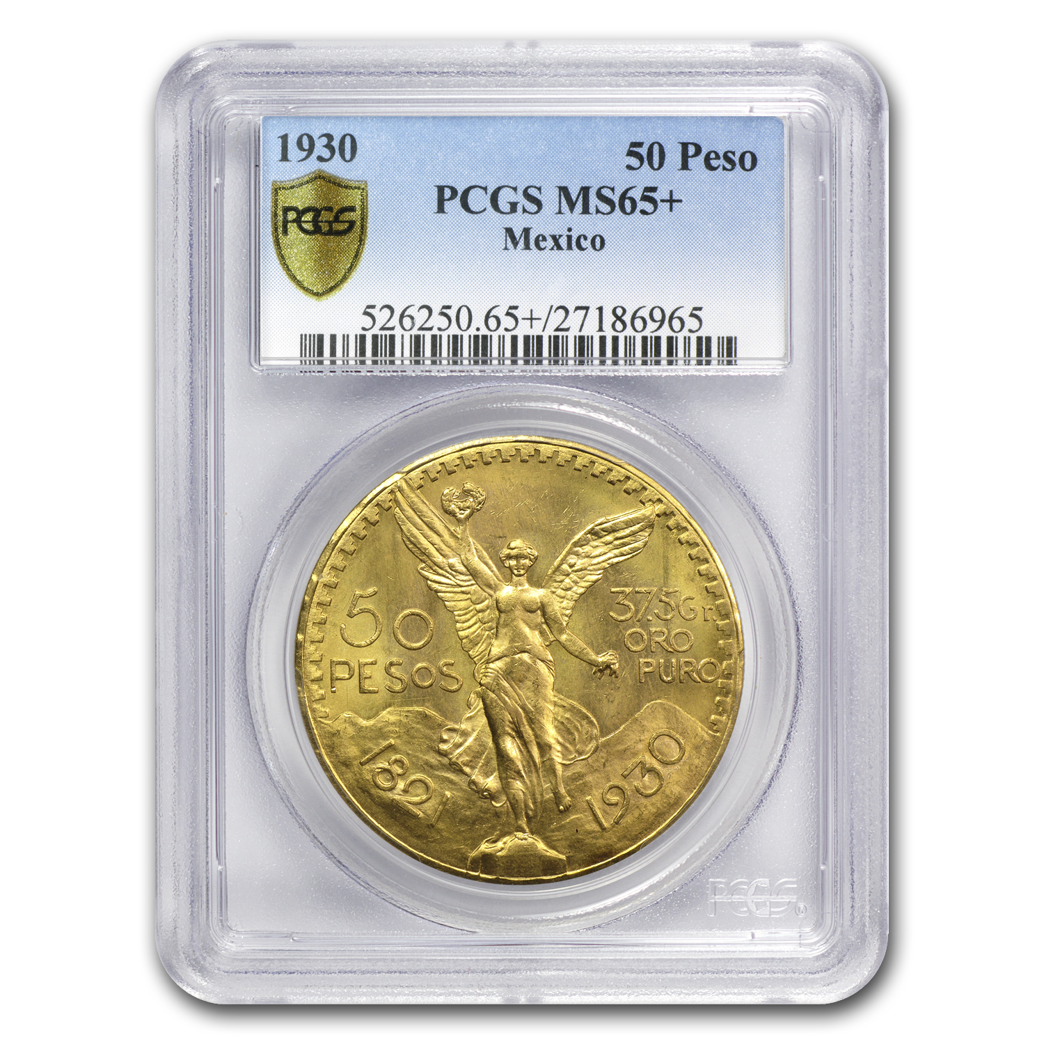 1930 Mexico Gold 50 Pesos MS-65+ PCGS (Secure Plus)
