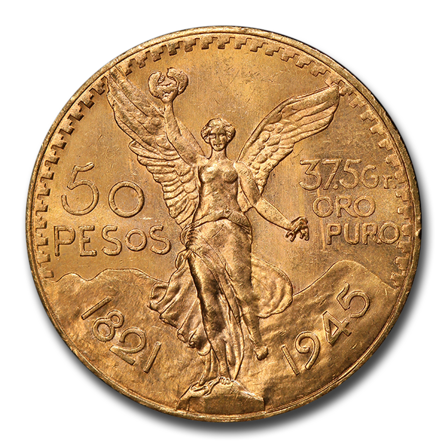 1945 Mexico Gold 50 Pesos MS-65 PCGS