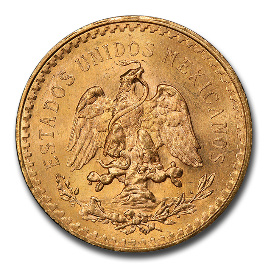 Mexico 1945 50 Pesos Gold Coin - MS-65 PCGS