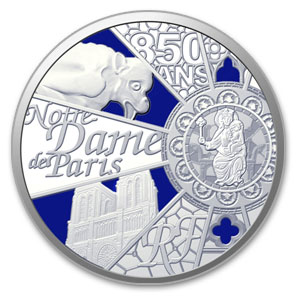2013 5 oz Silver UNESCO 850th Anniv Notre Dame de Paris Proof