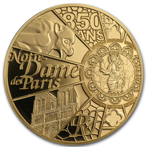 2013 1/4 oz Proof Gold UNESCO (850th Anniv Notre Dame de Paris)