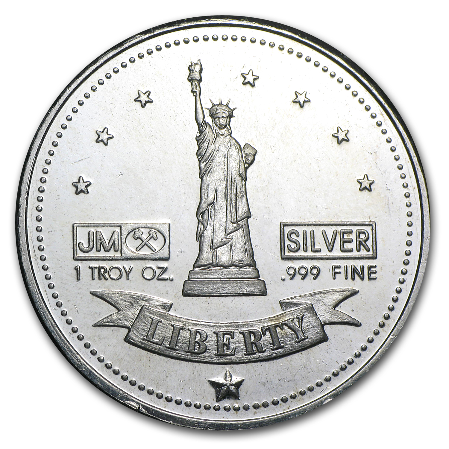 1 oz Silver Round - Johnson Matthey (Carson City)